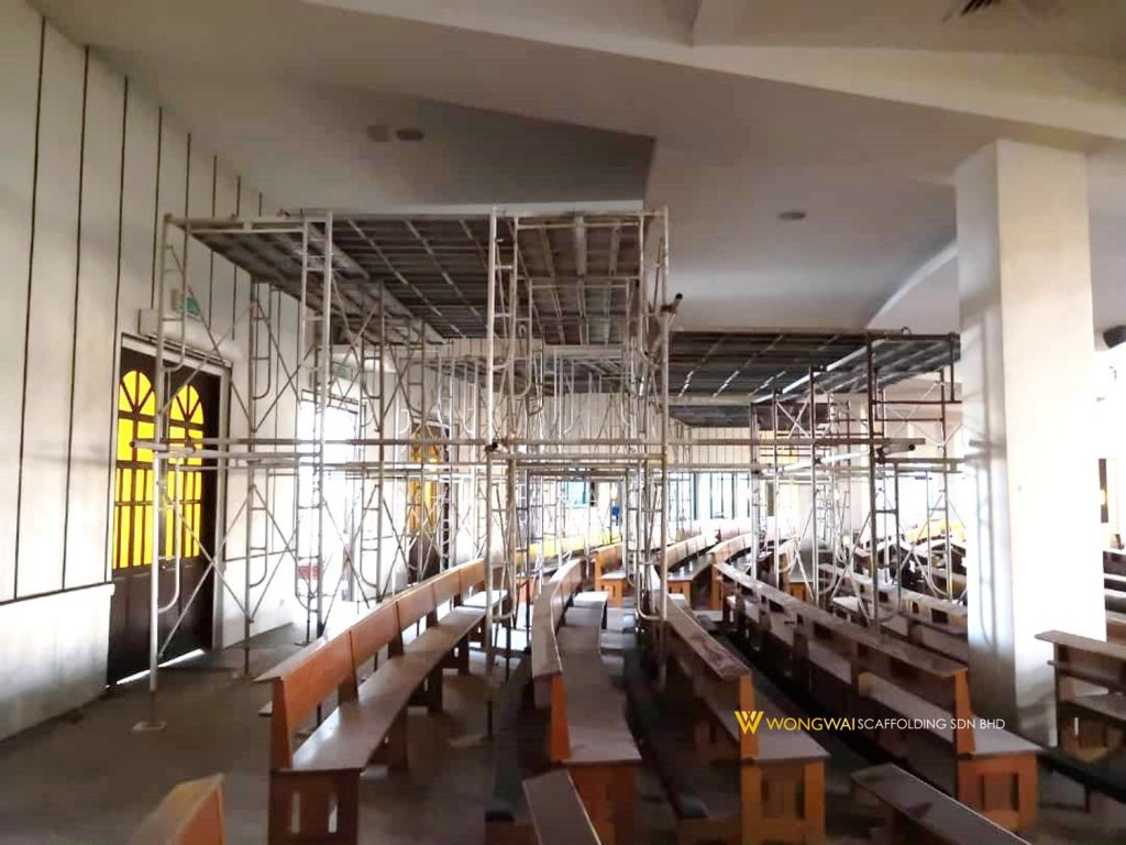 Wong-Wai-Scaffolding-Rental-Sales-Malaysia-Church of The Holy Family - Kajang