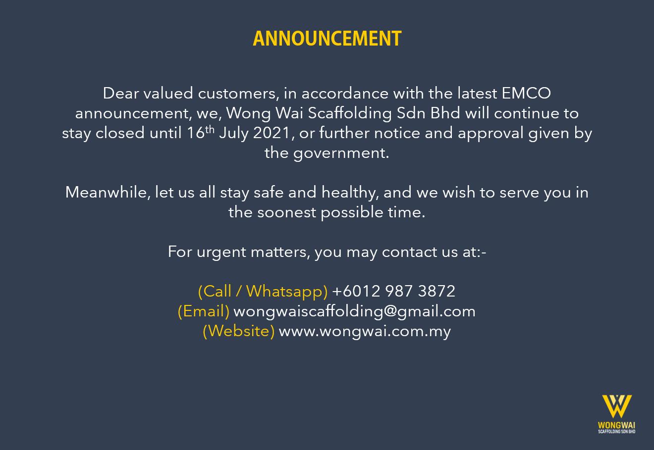 Wong Wai Scaffolding Sdn Bhd